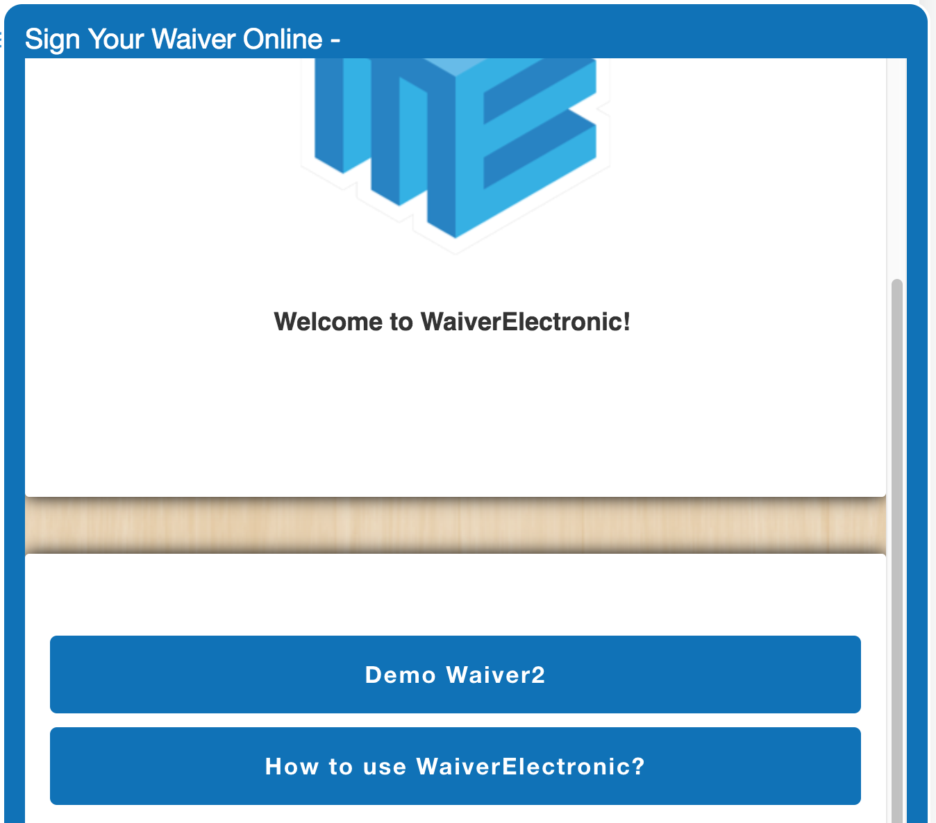 Waiver Electronic Online Waivers | Features